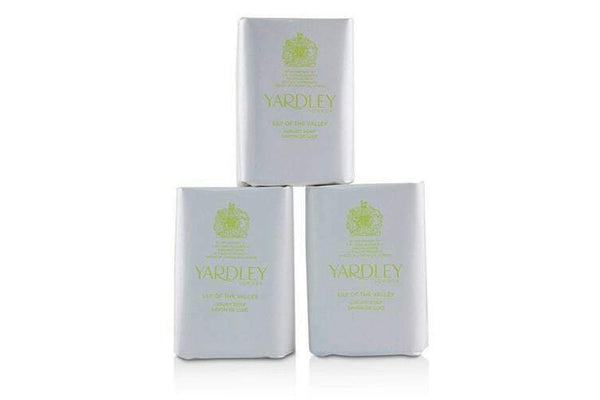 Yardley London - Perfumed Soap Bar 3 PACK 100g LILY OF THE VALLEY Luxury Scent