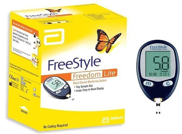 Abbott - Freestyle Freedom Lite - Blood Glucose Monitoring System - Diabetes