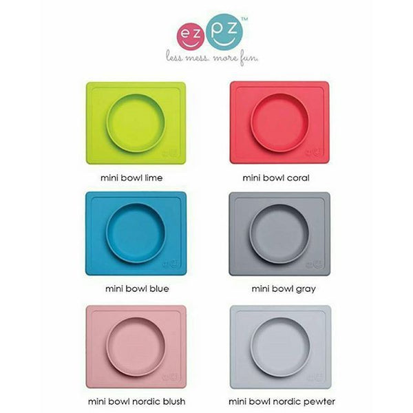 EZPZ - Mini Bowl & Placemat in One + Suction PICK COLOUR Silicone Kids Baby