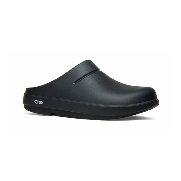 Oofos Oocloog Black - Nursing Clogs - Slip On Work Shoes Women Supportive Slide