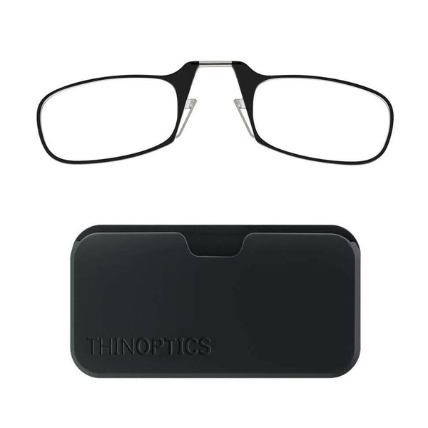 Thin Optics - Reading Glasses POD CASE BLACK FRAME +2.00 Readers ThinOptics