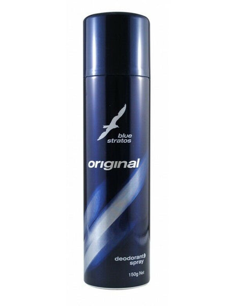Blue Stratos - Original Deodorant Spray 150g Mens Aerosol Fragranced Can