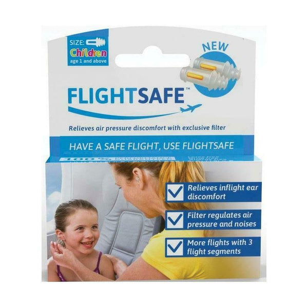 Flightsafe - Ear Planes Flight Protection Relieves Air Pressure CHILDREN Plugs