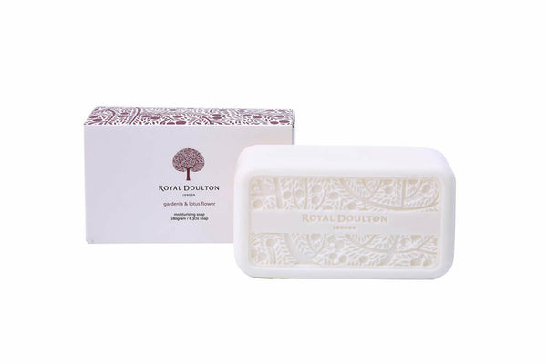 Royal Doulton - Gardenia & Lotus Flower Moisturising Soap Bar Luxury Decorative