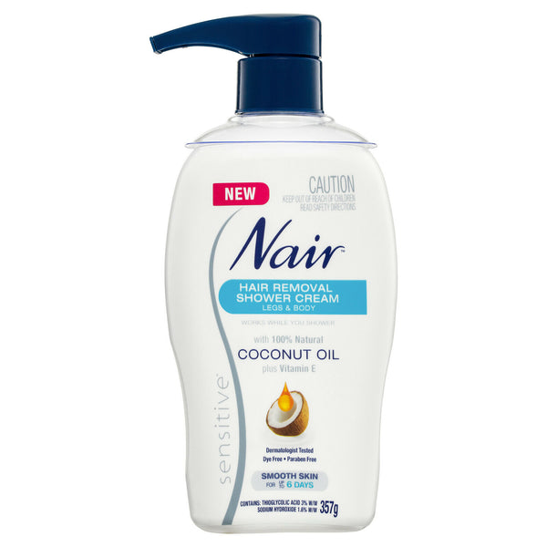 Nair - Hair Removal Shower Cream Legs & Body Smooth Skin For Up To 6 Days 357g