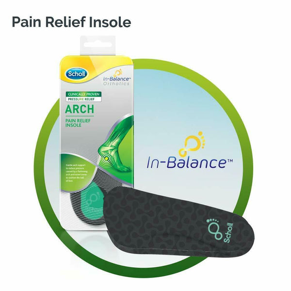 Scholl - In-Balance Arch Orthotic Insole MEDIUM Feet Pain Relief Support
