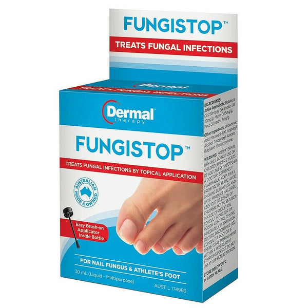 Dermal Therapy - Fungistop For Nail Fungus & Athletes Foot Fungal Infection 30ml