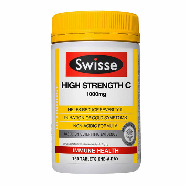 Swisse - High Strength Vitamin C 1000mg Immune Health 150 Tablets One-A-Day