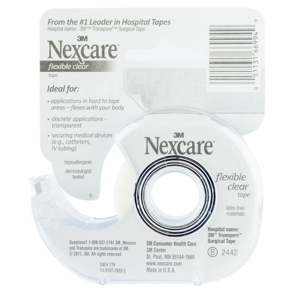 3M Nexcare - Flexible Clear Tape Dispenser Transpore Surgical Medical First Aid