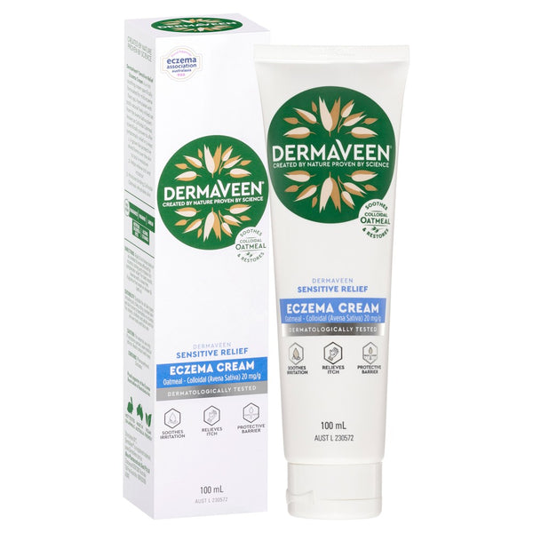 Dermaveen - Eczema Cream 100ml Sensitive Relief Colloidal Oatmeal