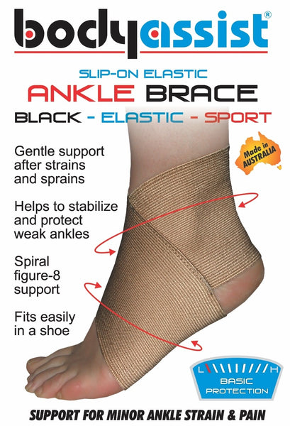 Body Assist - Slip On Elastic Ankle Brace PICK SIZE Injury Sprain Foot Support