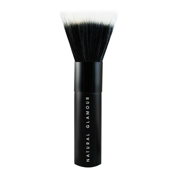 Natural Glamour - Stippling Brush Duo Fibre Make Up Brush Foundation Brand New