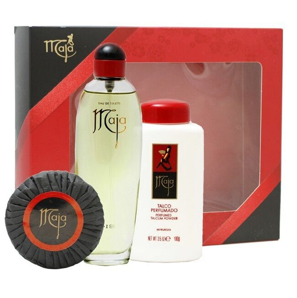 Maja - 100g Talc + 100g Soap + 50ml Eau De Toilette Perfume Set - Brand New