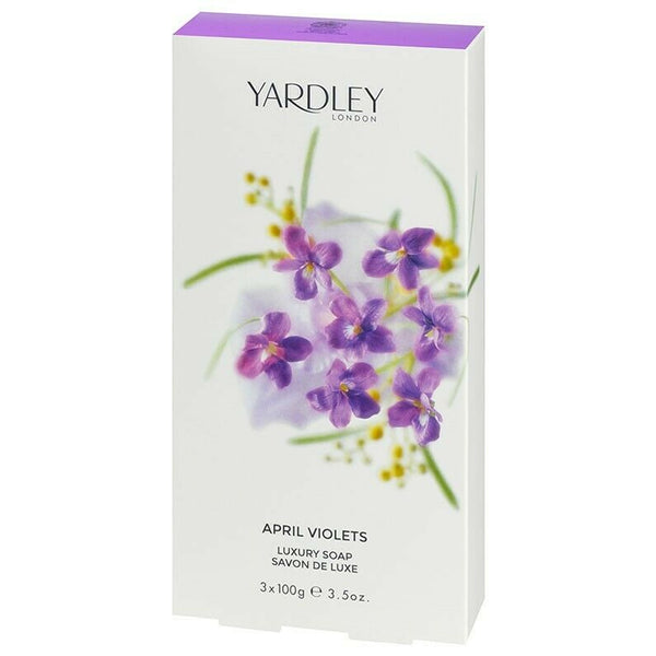 Yardley London - Perfumed Soap Bar 3 PACK 100g APRIL VIOLETS Fragranced Hand