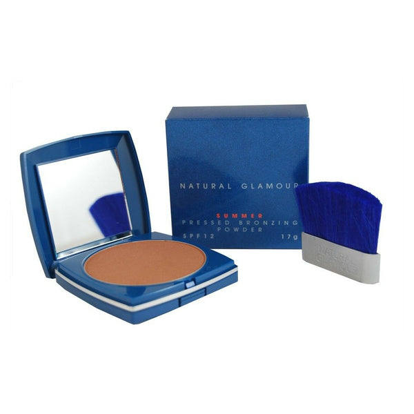 Natural Glamour SUMMER Compact Bronzing Powder - Bronzer Face Pressed Glow