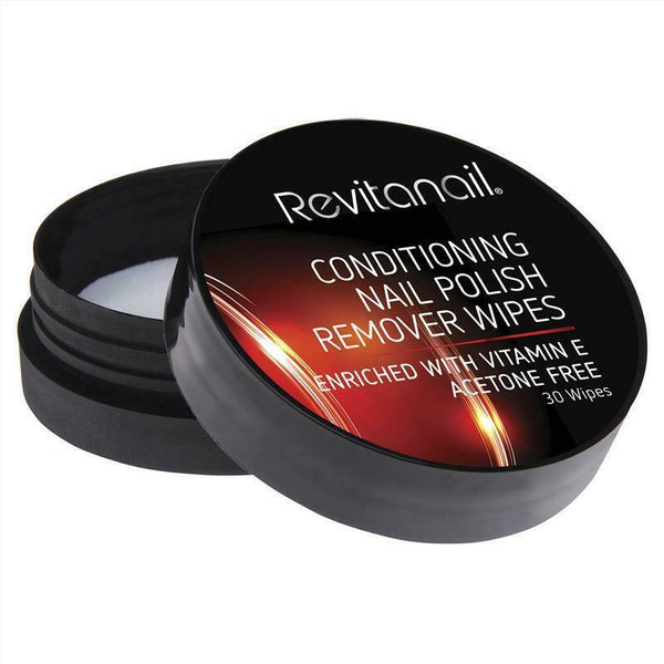 Revitanail -  Nail Polish Remover Conditioning Wipes for Dry Damaged Nails