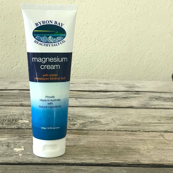 Byron  Bay - Magnesium Cream Himalayan Salt Natural Muscles Skin Rub 120g