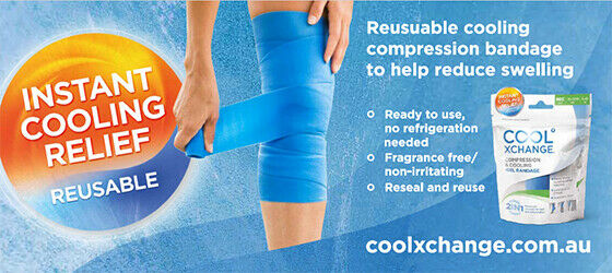 CoolXChange - Compression & Cooling Gel Bandage Advanced Recovery LARGE SIZE