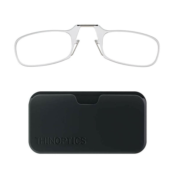 Thin Optics - Reading Glasses POD CASE CLEAR FRAME +2.00 Readers ThinOptics Slim