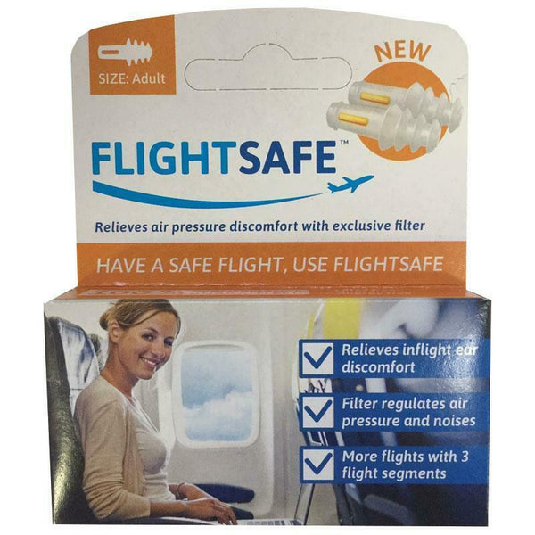 FlightSafe - Ear Planes Flight Protection Relieves Air Pressure ADULT Plugs Fly