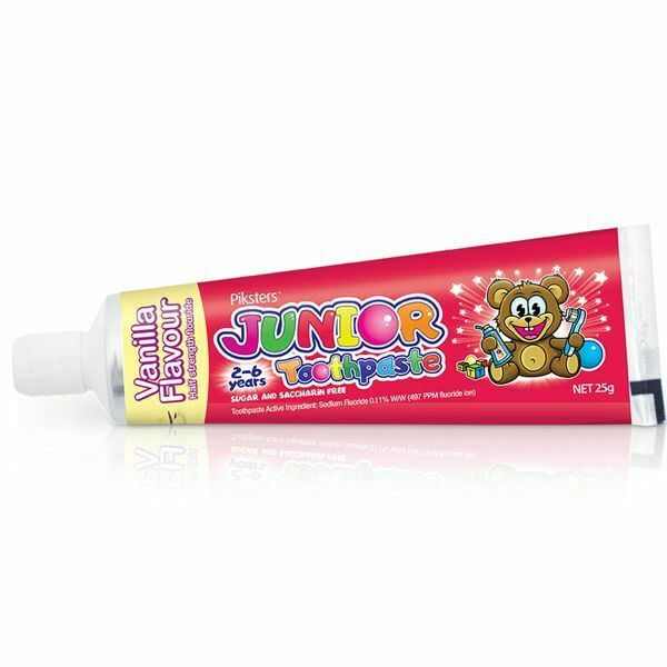 Piksters - Junior Oral Care Kit Toothbrush, Gorilla Floss, Flosser & Tooth Paste