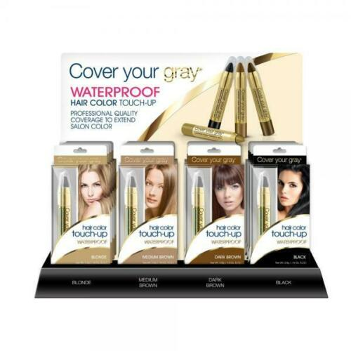 Cover Your Gray - Hair Color Touch-up Waterproof BLACK Cover Grey Roots 2.9g