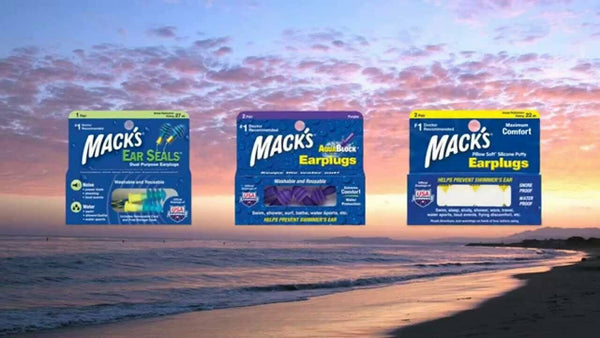 Macks Ear Plugs - Pillow Soft Silicone Putty Earplugs 2 PAIRS Prevents Swimmers