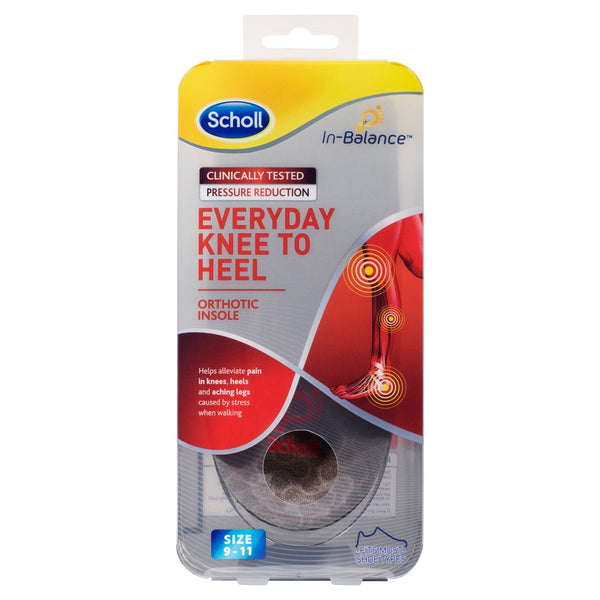 Scholl - In Balance Orthotic Insole Knee To Heel PICK SIZE Feet Shoes Support