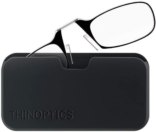 Thin Optics - Reading Glasses POD CASE BLACK FRAME +2.50 Readers ThinOptics