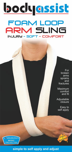 Body Assist - Foam Arm Sling PICK SIZE Adjustable Comfortable Support