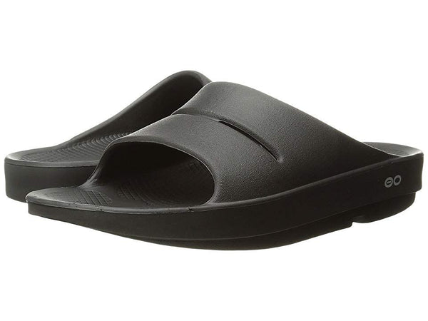 Oofos Ooahh Slides CHOOSE SIZE Mens Slip On Sandals Black Shoe Outdoor Slipper