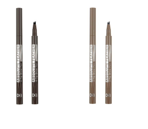 Designer Brands - Absolute Feather 4-Tip Brow Pen PICK COLOUR Eyebrow Colour