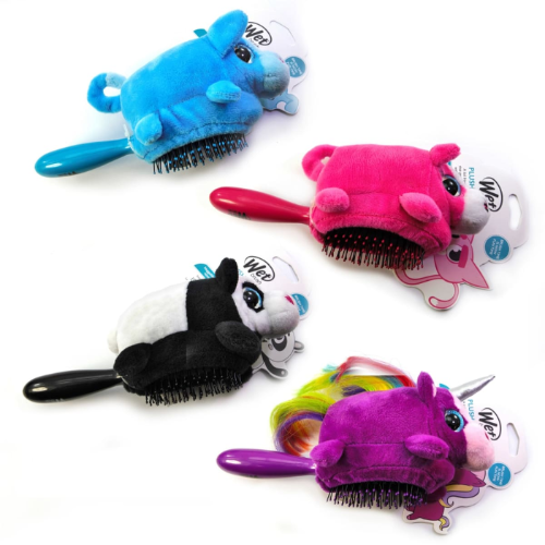 Wet Brush - Kids Plush Brush ELLY UNICORN Pink Girls Hairbrush with Toy