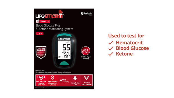Lifesmart - Diabetes  Blood Glucose Plus Ketone Monitoring System