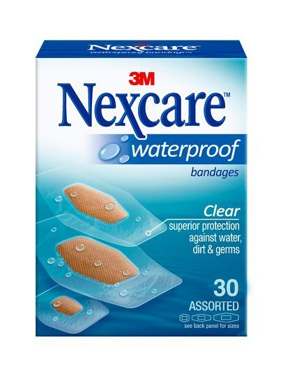 3M Nexcare - WaterProof Clear Bandages PICK SIZE Water Proof Bandaid Plaster