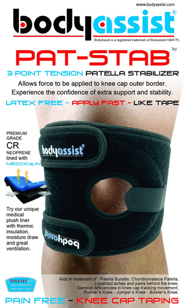 Body Assist - Pat-Stab - Patella Stabilizing Knee Brace Support Choose Size
