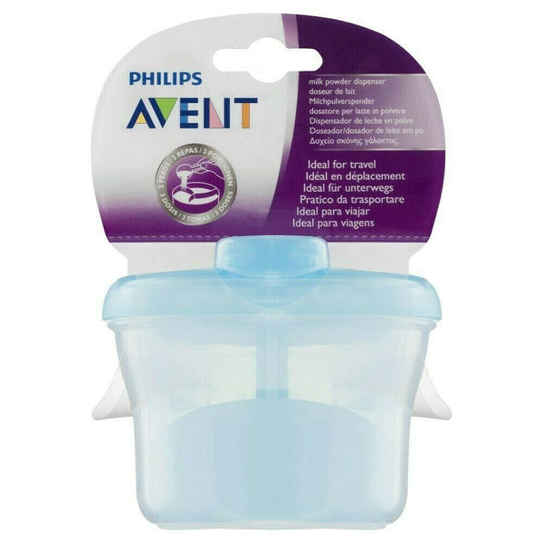 Avent - Powder Dispenser Container BLUE 3 Compartment Baby Milk Formula