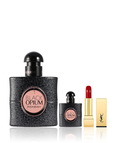 YSL - Black Opium Women's Perfume Gift Set 90ml + 7.5ml EDP Rouge Pur Couture #1