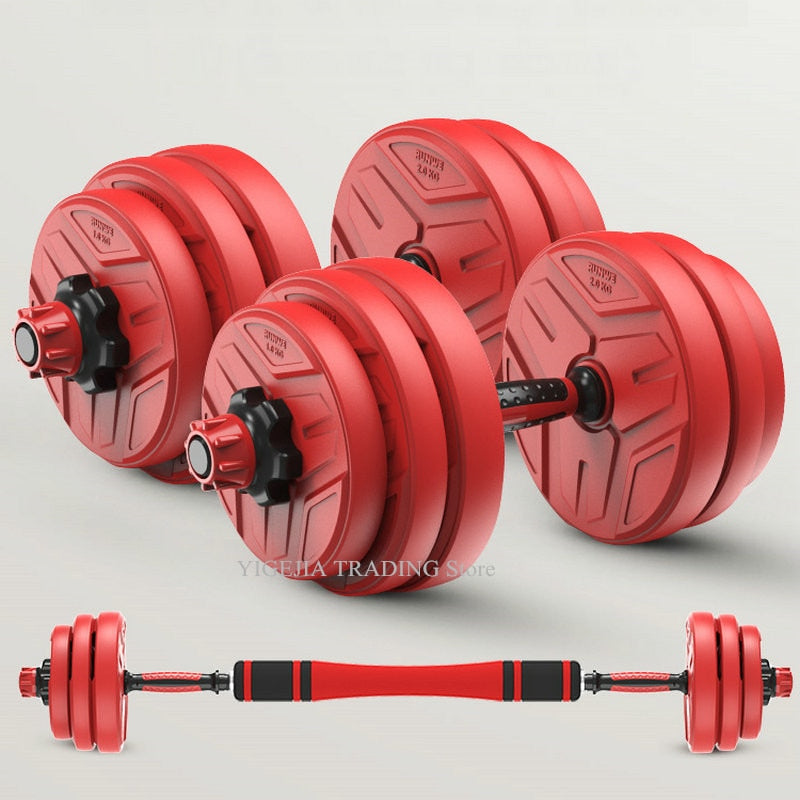 Lifting Dumbells  Adjustable Barbell