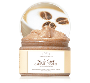 Farmhouse Fresh- Triple Shot Caramel Coffee Whipped Shea Butter Body Polish