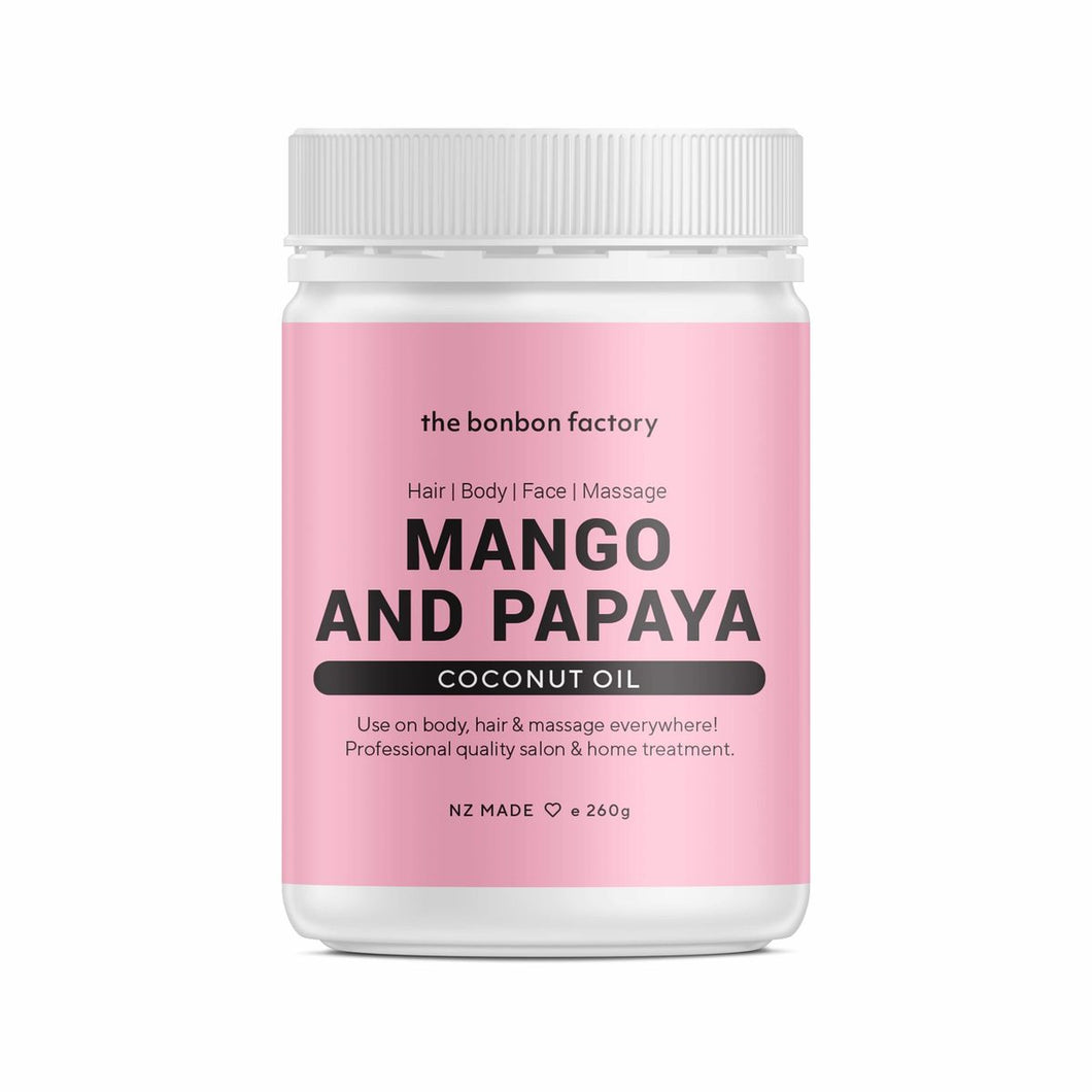 MANGO AND PAPAYA COCONUT OIL - Beautiful Creatures Makeup & Beauty