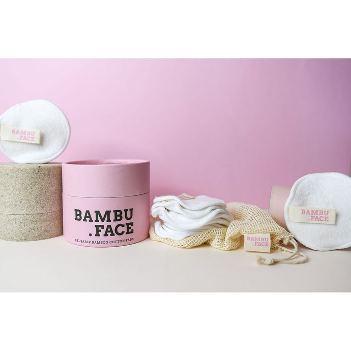 Bambu Face Pads 16 Pack - Beautiful Creatures Makeup & Beauty