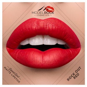 ROCK-OUT RED Liquid to Matte Longwear Lipstick 3.5ml - Beautiful Creatures Makeup & Beauty