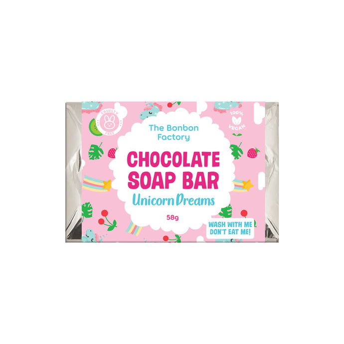 Unicorn Chocolate Soap Bar 58g - Beautiful Creatures Makeup & Beauty