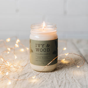 Pine Needle Limited Edition Mason Jar Soy Candle 270g - Beautiful Creatures Makeup & Beauty