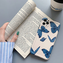 Load image into Gallery viewer, Korean Fashion Charm Blue Butterfly Soft Casing
