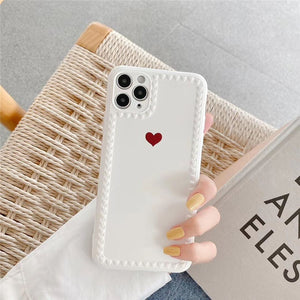 Red Love Heart Iphone Case