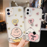 Transparent Cute Cartoon Couple Soft Casing