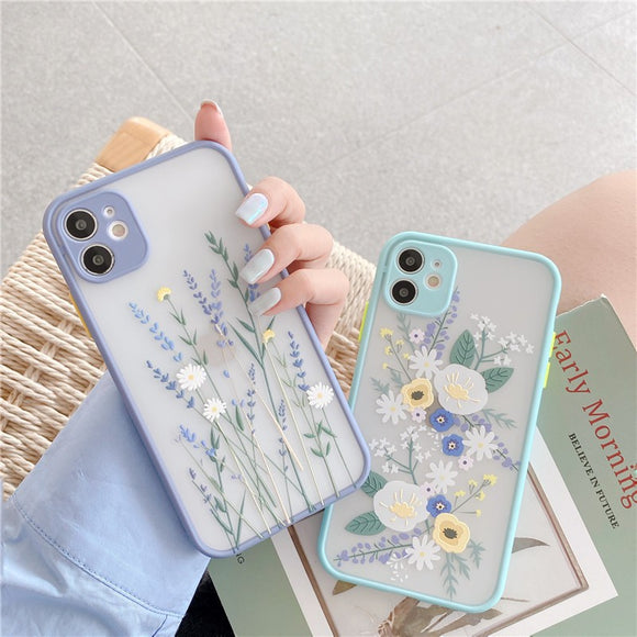 Hot Selling Fashion Pretty Daisy Lavender Iphone Case