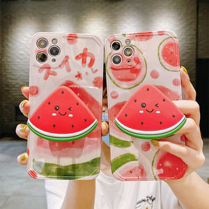 Fashion Cute with Watermelon Stand Iphone Case